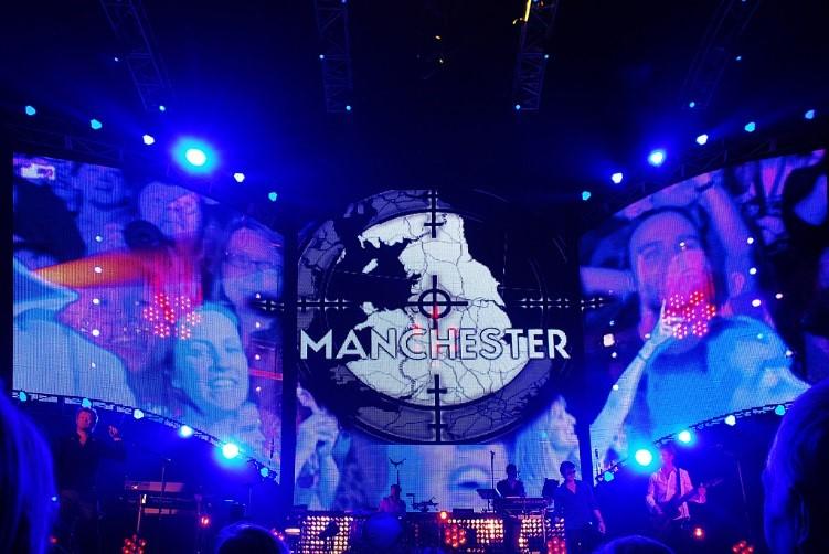 Manchester Arena Concert Stage Lights