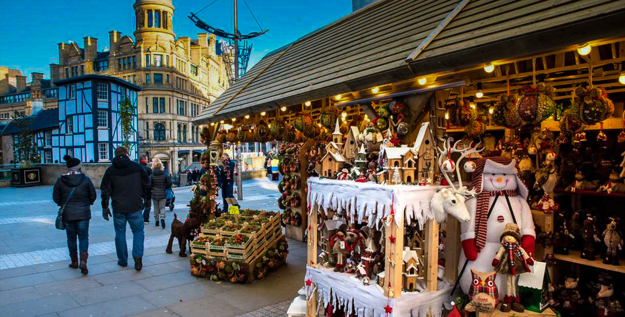 Manchester Christmas Markets Stand Exchange Square