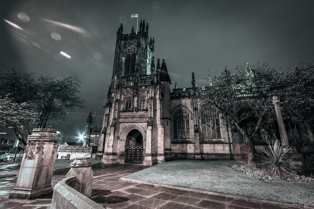 Manchester Cathedral Evening Garden